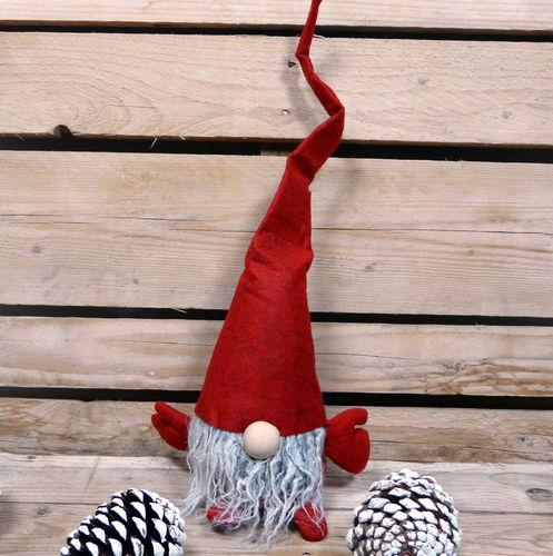 Wichtel mit Sack Nisser XXL 95 cm Filzwichtel Weihnachtswichtel