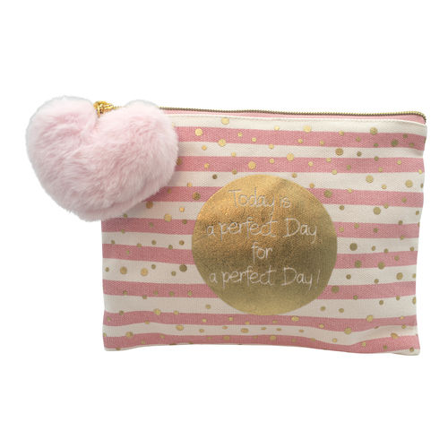"Kosmetiktasche ""today is a perfect day for a perfect day!"" von MEA LIVING"