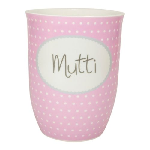 "MEA LIVING Tasse ""Mutti"" rosa Henkelbecher 500ml"